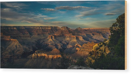 South Rim Nightfall Wood Print
