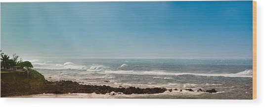 South Shore Maui Beach House Wood Print
