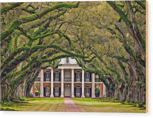 Southern Class Oil Wood Print