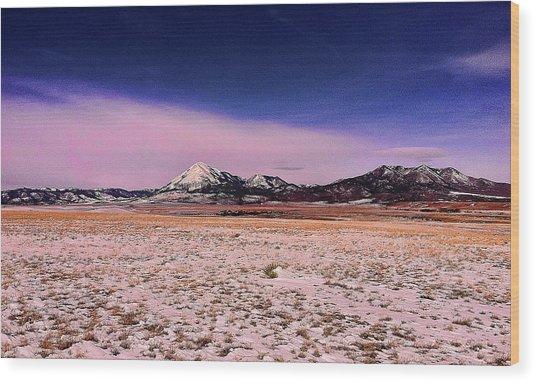 Southern Colorado Mountains Wood Print