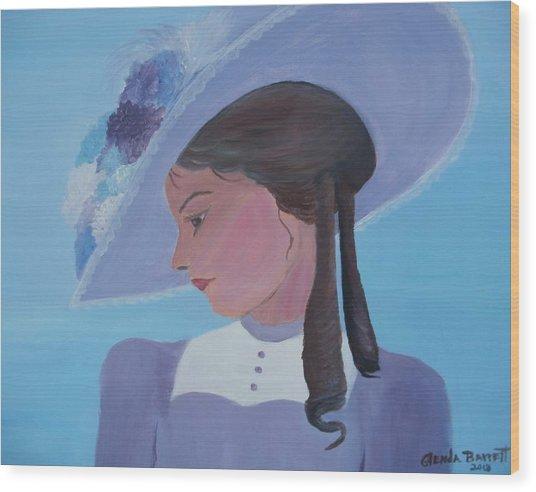 Southern Lady Wood Print by Glenda Barrett