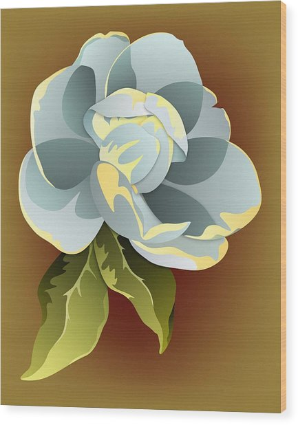 Southern Magnolia Blossom Wood Print by MM Anderson