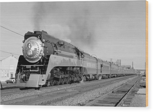 Southern Pacific Train In Texas Wood Print