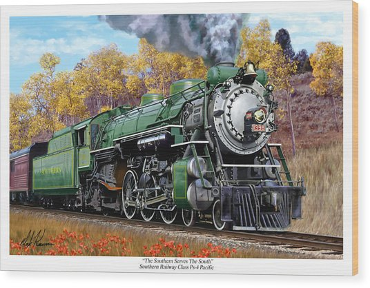 Southern Railway Class Ps-4 Pacific Wood Print by Mark Karvon