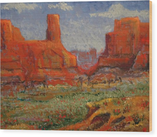 Southern Utah In The Spring Wood Print by Paul Benson