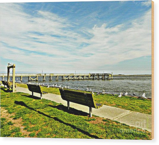 Southport Waterfront Wood Print