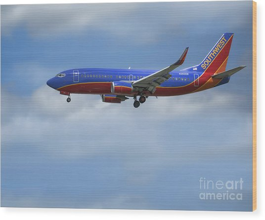 Southwest Airlines Jet Wood Print