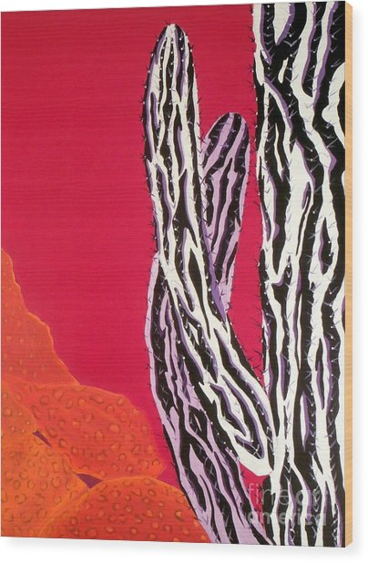 Southwest Contemporary Art - The Wild Wild West Wood Print