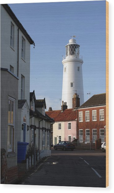 Southwold Lighthouse Wood Print by Tony Webb