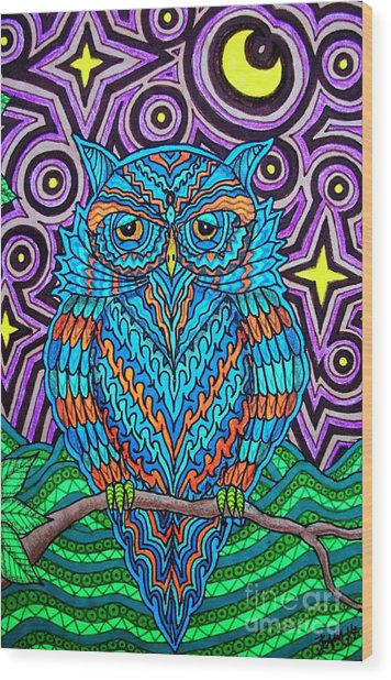 Mr. Owl  Wood Print