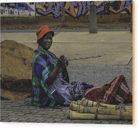 Soweto Artist Wood Print