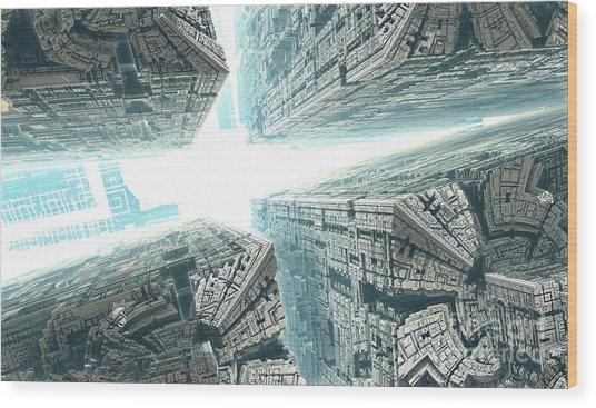 Space Travel Wood Print by Bernard MICHEL