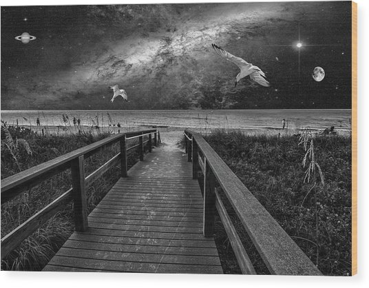 Space Walkway Wood Print