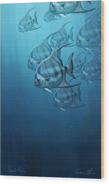 Spade Fish Wood Print