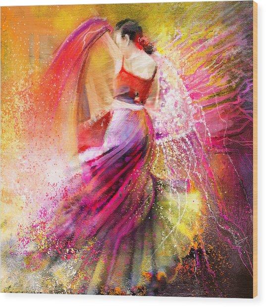 Spain - Flamencoscape 12 Wood Print