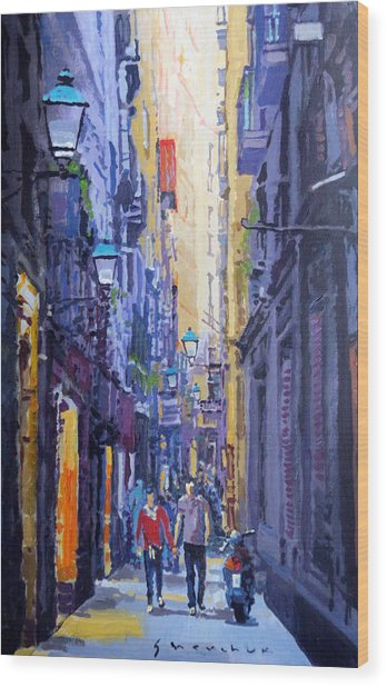 Spain Series 10 Barcelona Wood Print