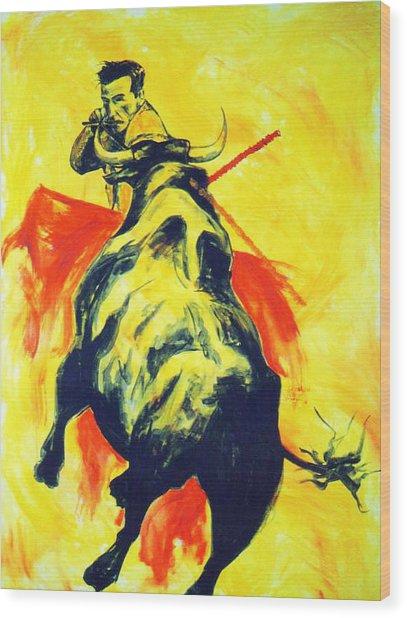 Spanish Bullfight Wood Print