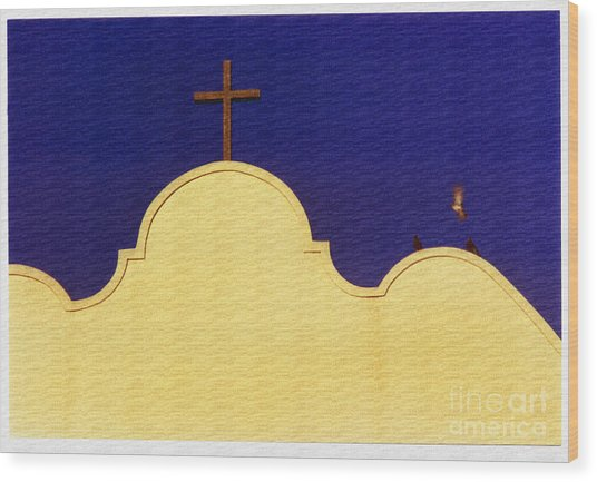 Spanish Mission Wood Print