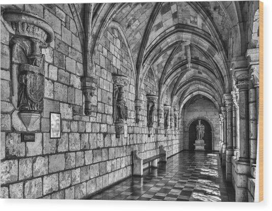 Spanish Monastary Wood Print