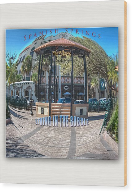 Spanish Springs Living In The Bubble Wood Print by Wynn Davis-Shanks
