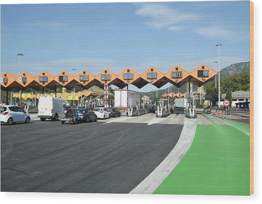 Spanish Toll Booths Wood Print