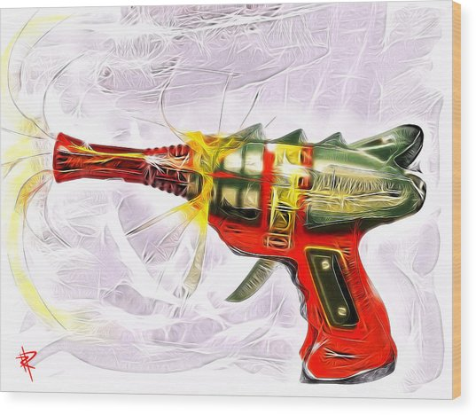 Spark Maker Wood Print by Russell Pierce