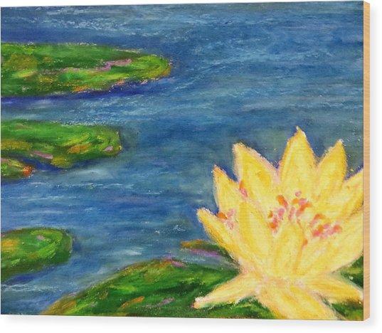 Sparking Lillies Wood Print