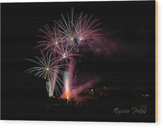 Wood Print featuring the photograph Sparkled Colored Rays by Enrico Pelos