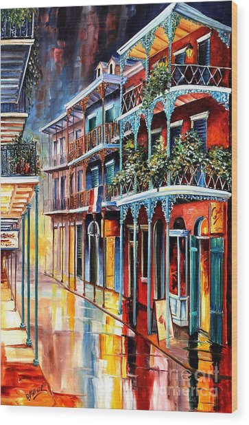 Sparkling French Quarter Wood Print
