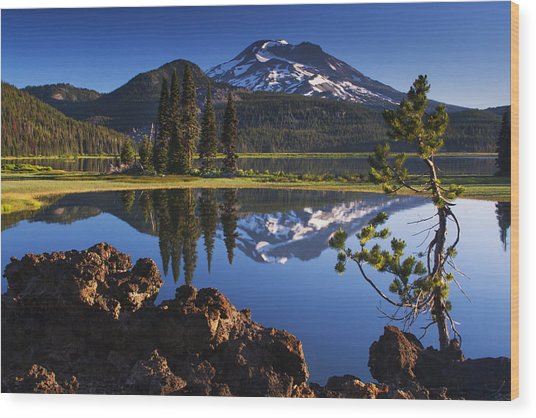 Sparks Lake Sunrise Wood Print