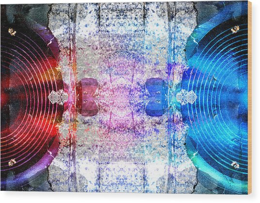 Speakers 3 Wood Print