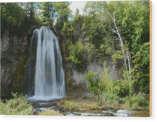Spearfish Falls In Early September Wood Print