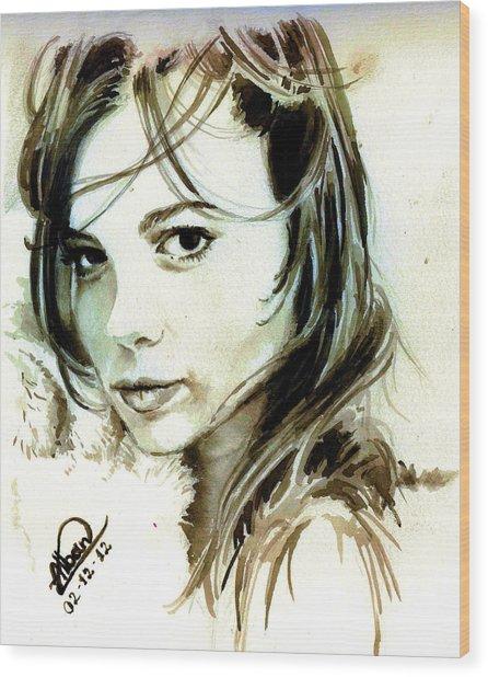Special Friend Portrait Wood Print