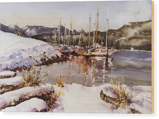 Special Winter In Vancouver Wood Print by Marta Styk