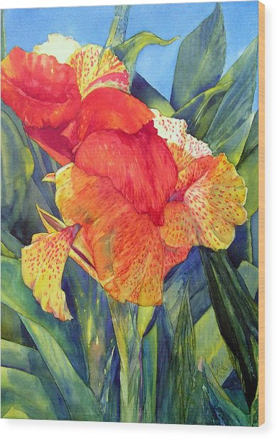 Speckled Canna Wood Print