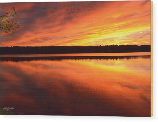 Spectacular Orange Mirror Wood Print
