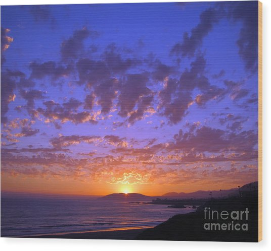 Spectacular Sunset  Wood Print