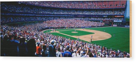 Spectators In A Baseball Stadium, Shea Wood Print