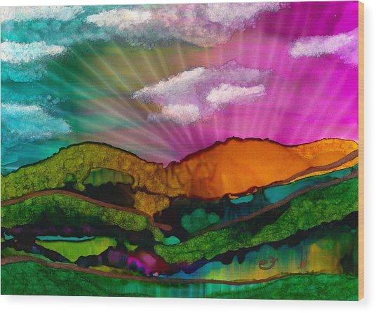 Spectrum Of Hope Wood Print
