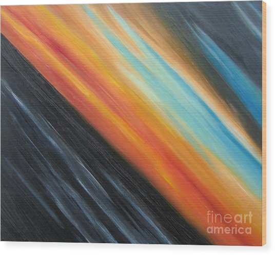 Speedy Sunset Wood Print