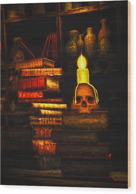 Spells Wood Print