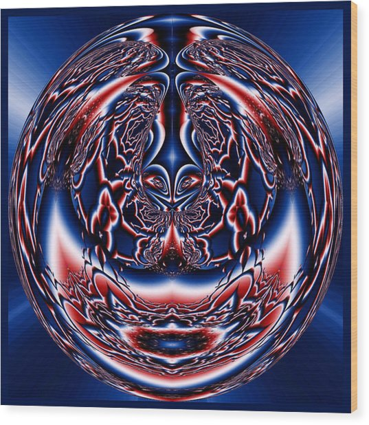 Spherical Art No 5 Wood Print