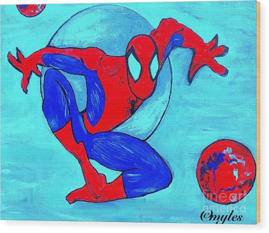 Spider-man  Wood Print