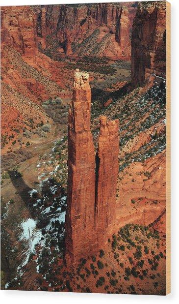 Spider Rock, Canyon De Chelly, Arizona Wood Print