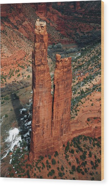 Spider Rock, Canyon De Chelly, Chinley Wood Print