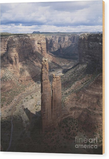 Spider Rock, Canyon De Chelly Wood Print