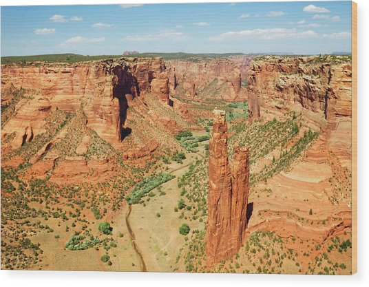 Spider Rock - Canyon De Chelly National Wood Print