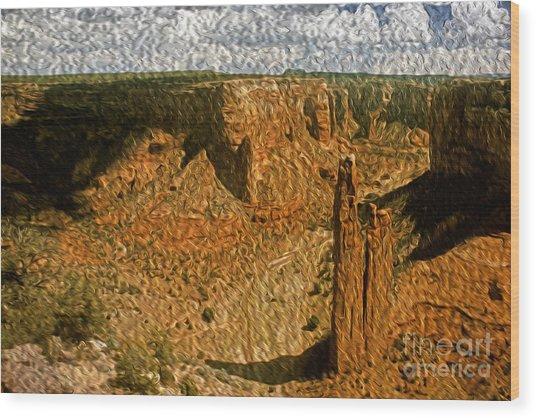 Spider Rock Wood Print