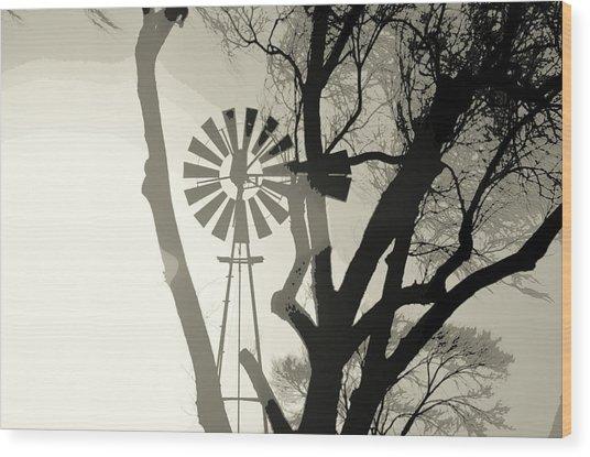 Spinning Inside Wood Print