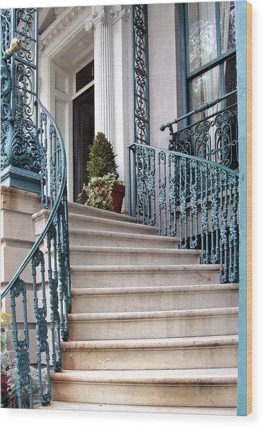 Spiral Stairs Wood Print by Sarah-jane Laubscher
